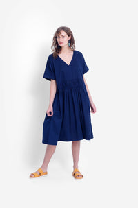 Elk Karis Smock Dress - Deep Blue