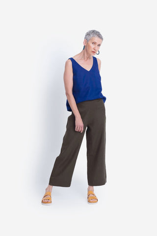 Elk Hallvi Linen Pants - Dusty Olive