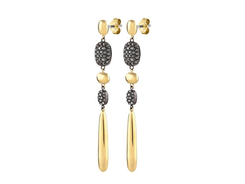 Dyrberg/Kern Imani Gold Hematite Earrings