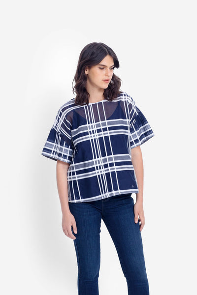 Elk Janeke Plaid Top - Ink