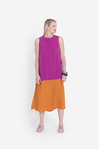 Elk Molger Dress - Magenta/Orange