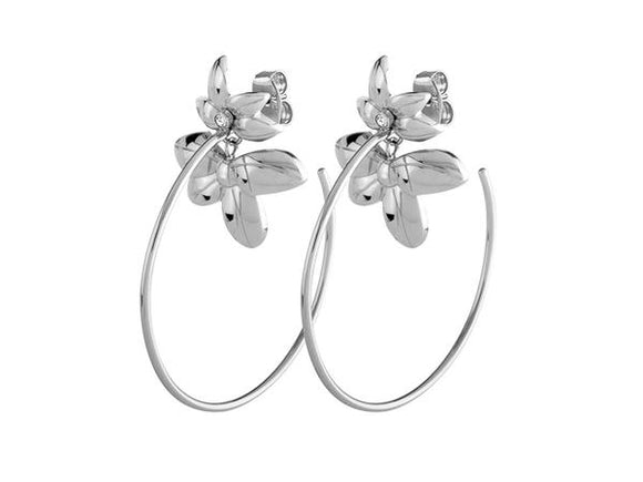 Dyrberg/Kern Macey Shiny Silver Crystal Earrings
