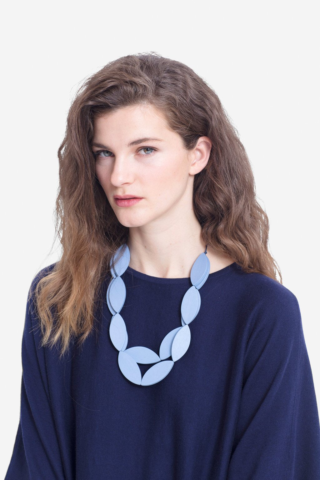 Elk Leaf Necklace - Blue