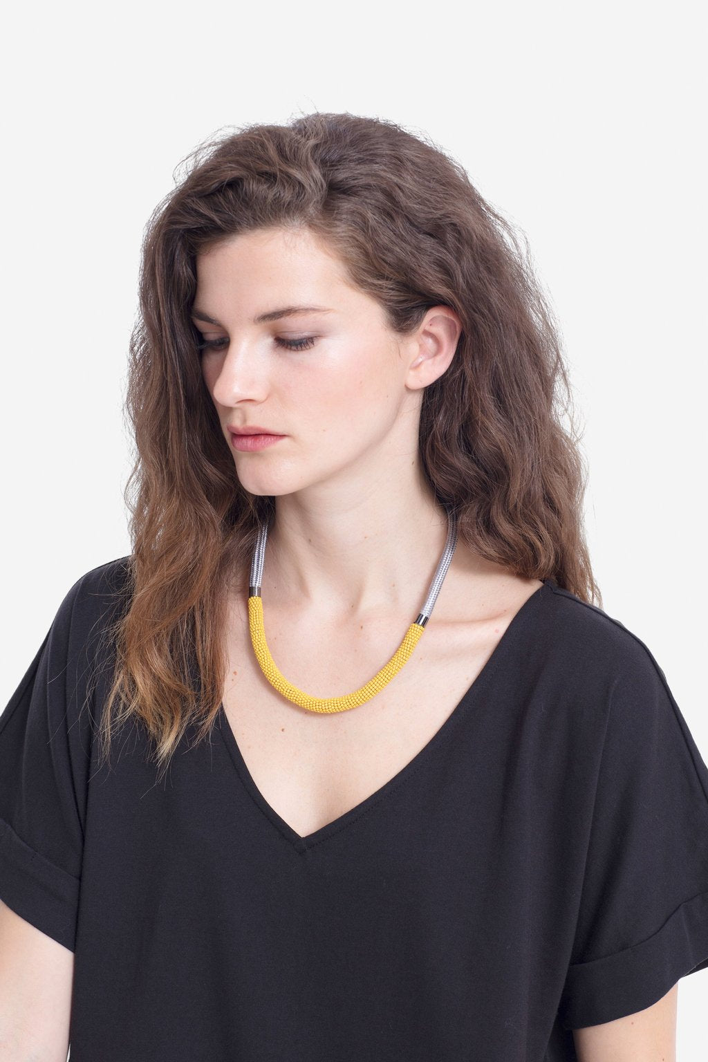 Elk Rek Necklace - Amber/Grey