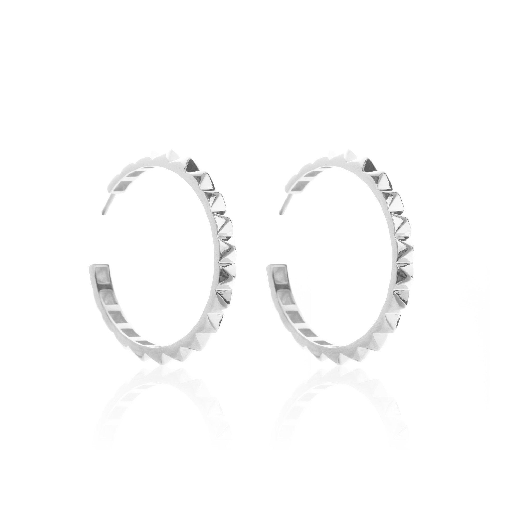 Silk & Steel The Perfect Party - Silver Hoop Earrings
