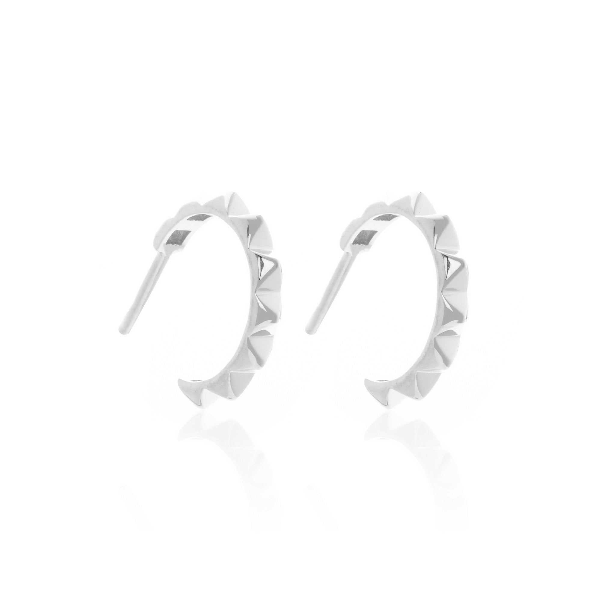 Silk & Steel Initmate Party - Silver Hoop Earrings