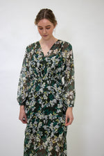 Load image into Gallery viewer, Staple + Cloth Tea Dress - Khaki/Yellow/Floral Print