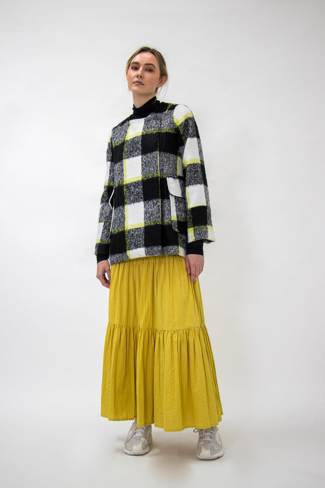 Staple + Cloth Teresa Skirt - Chartruese