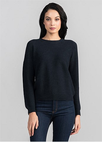 Untouched World Stitch Sweater - Dark Navy