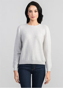 Untouched World Stitch Sweater - Light Silver