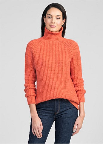 Untouched World Verve Chunky Roll Neck - Coral