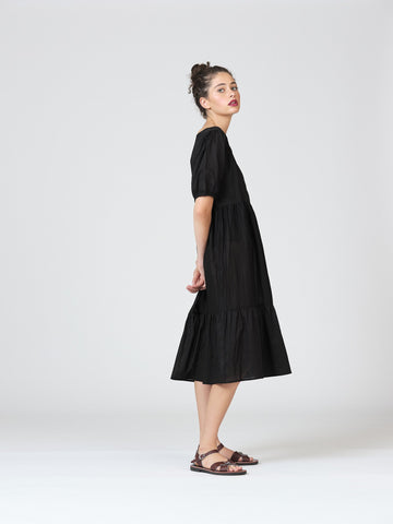 Widdess Laura Dress - Black Viole
