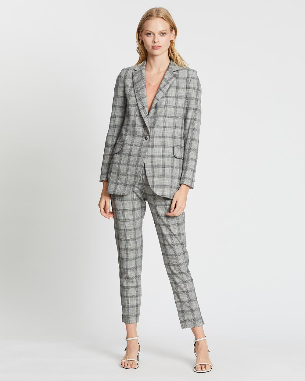 Cable Melbourne Ivy Check Blazer