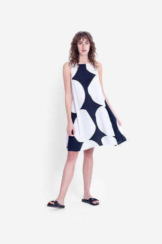 Elk Kalla Tank Dress - Black/White