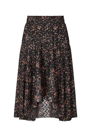 Lollys Laundry Bali Skirt - Dark Floral Print
