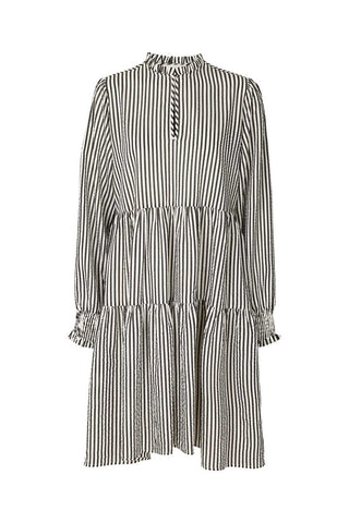 Lollys Laundry Eva Dress - Black & White Stripe