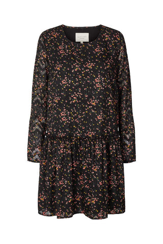 Lollys Laundry Gili Dress - Dark Flower Print