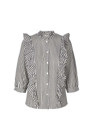 Lollys Laundry Hanni Shirt - Black & White Stripe