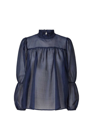 Lollys Laundry Palma Blouse - Dark Blue
