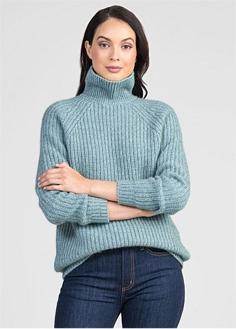 Untouched World Verve Chunky Roll Neck - Mist/Light Silver