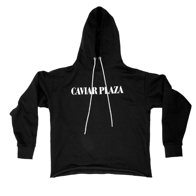Caviar Plaza FW20 Bling Pullover Hoodie, Black