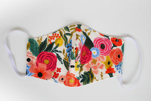 Cute face mask, Rifle paper co, cotton face mask, washable mask floral
