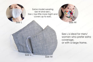 Washable facemask, cute mask for women, cotton facemask, dust mask