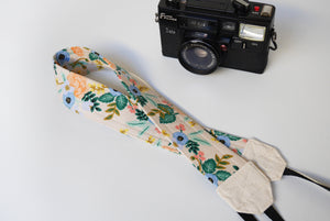 Camera strap Rifle paper co, floral camera strap, Canon neck strap