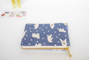 Blue coin purse