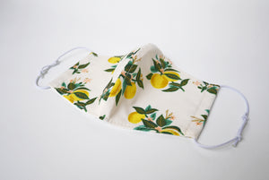 Cute facemask Australia, Rifle paper co mask, washable mask, lemon
