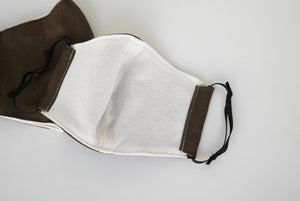 Brown face mask, Washable facemask, dust mask cotton, 2 layered cotton mask, Perth