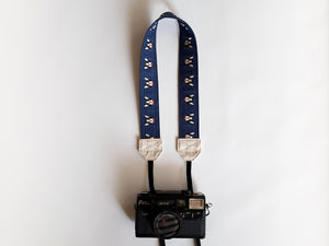 Cute Canon camera strap, camera neck strap Australia, Frenchie Navy
