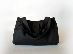 Black tote bag, black handbag, small tote bag