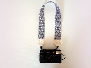 DSLR camera strap, gift for photographer Asian print, Asanoha