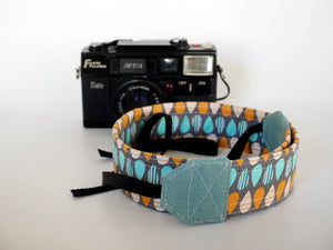 Canon camera strap, digital camera neck strap, raindrop