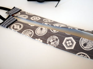Canvas camera strap long, Japanese print