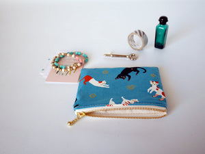 Cat zipper coin purse,  gift for cat lover