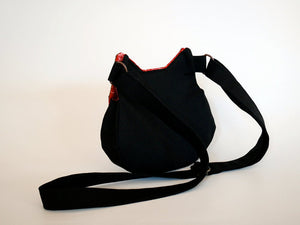 Black cat crossbody bag, crossbody bag for phone