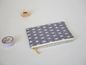Zipper coin purse, zipper pouch, change purse, asian print