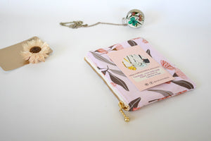 Small zipper pouch, Australian native floral zipper pouch, floral coin purse