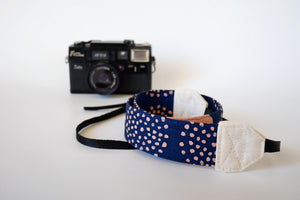 Navy camera strap, Canvas DSLR strap, photographer gift, Australia