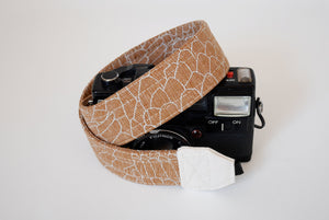 Vegan camera strap, SLR DSLR camera strap, cotton camera neck strap