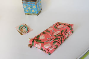 Pink cosmatic bag, Rifle paper co peonies
