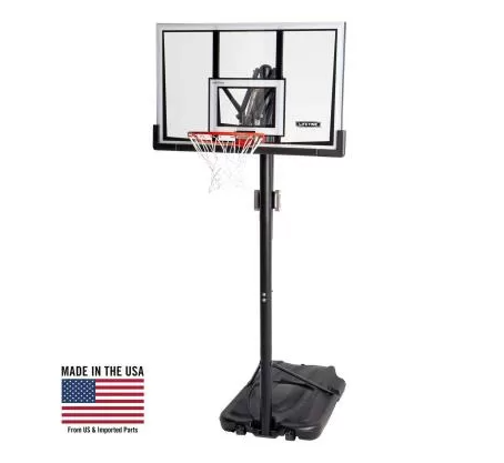LIFETIME ADJUSTABLE PORTABLE BASKETBALL HOOP (52-INCH POLYCARBONATE)