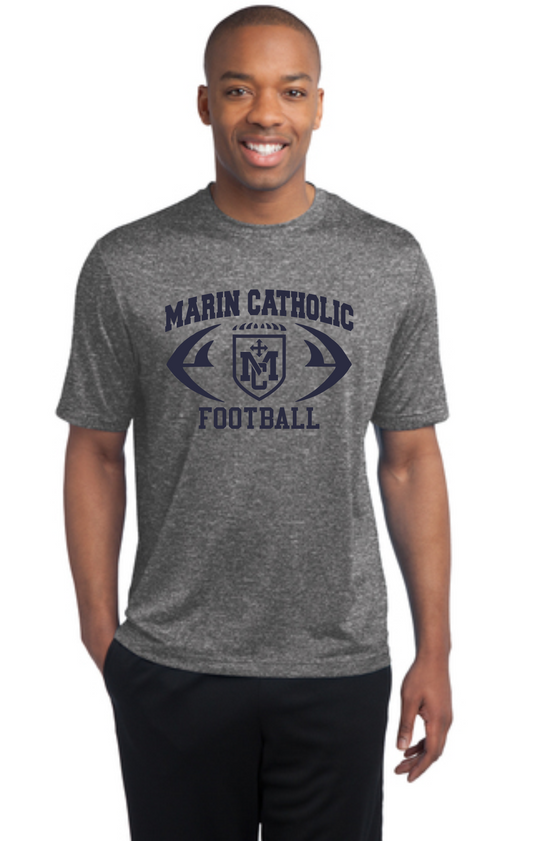Marin Catholic Football Grey Workout T-Shirt
