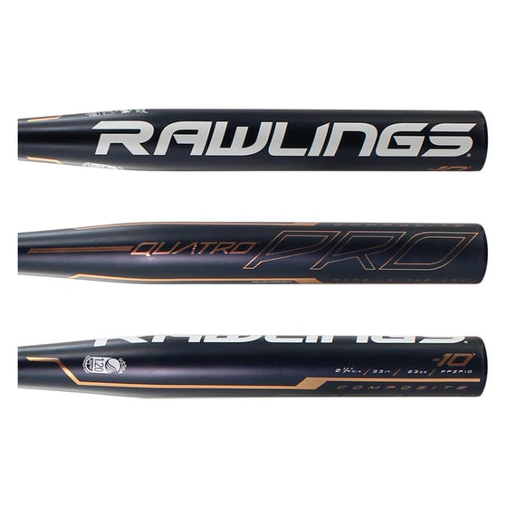 QUATRO PRO COLLEGE/HIGH SCHOOL SOFTBALL BAT (-10)