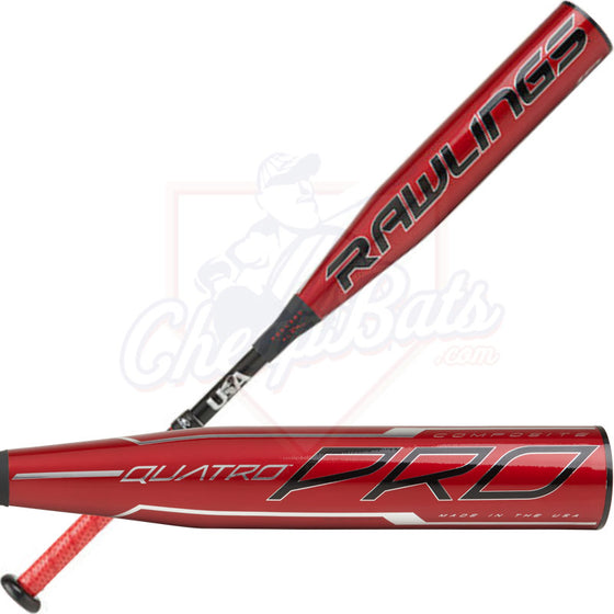 Rawlings Quatro Pro -10 USA Baseball Bat: USZQ10