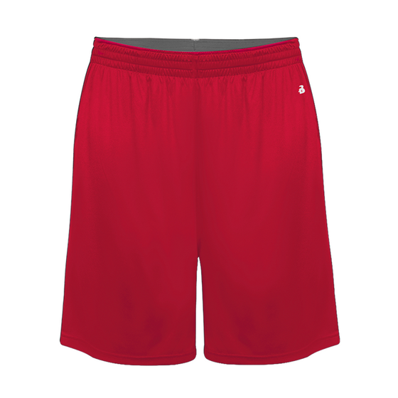 Youth Softlock Athletic Shorts-Red