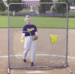 Tag Softball Protective Screen With Cutout