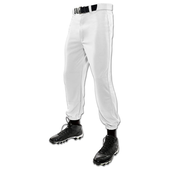 Tag Youth Cinched Bottom Baseball Pants-White